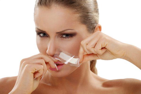Восковые полоски для депиляции верхней губы
