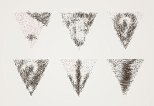 интимные стрижки с плохо просматривающимся рисунком