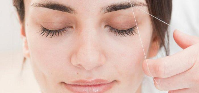 Удаление нежелательных волос нитью