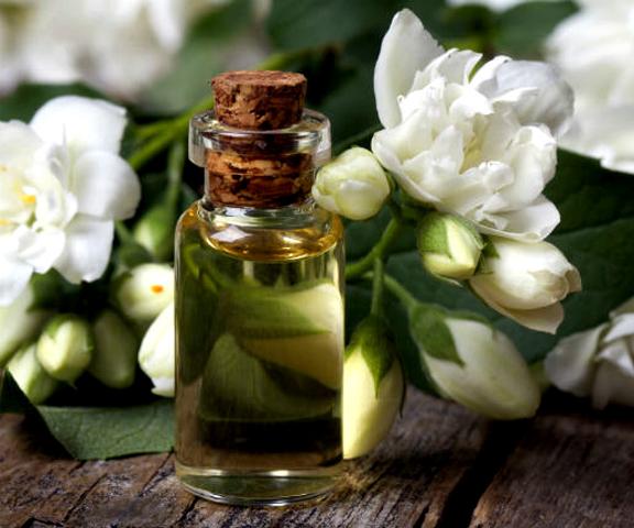 Масло и цветок жасмина