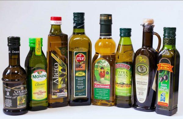 8 бутылок оливкового масла Extra virgin разных производителей