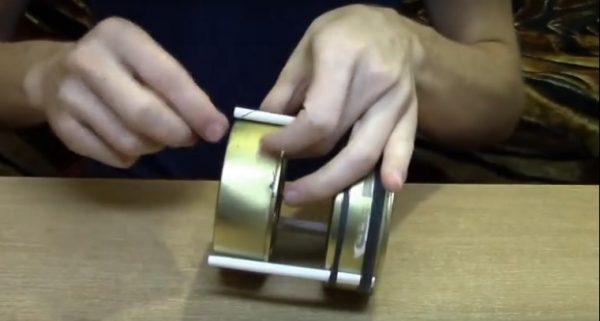 Сборка аромалампы из двух консервных банок
