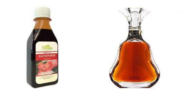 Касторовое масло и коньяк