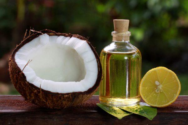 Лимон и кокосовое масло
