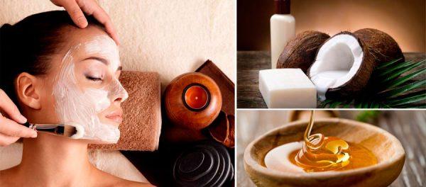 Мёд и масло кокоса в косметологии