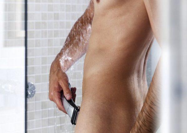 Удобная поза для бритья