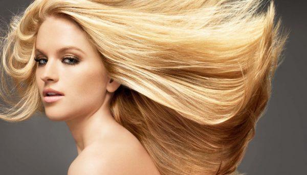 осветлённые волосы после курса масляных обёртываний с эфиром мяты
