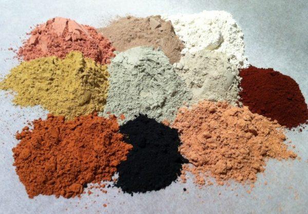 Глиняный порошок разных цветов