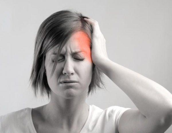 Локализация головной боли в левом виске