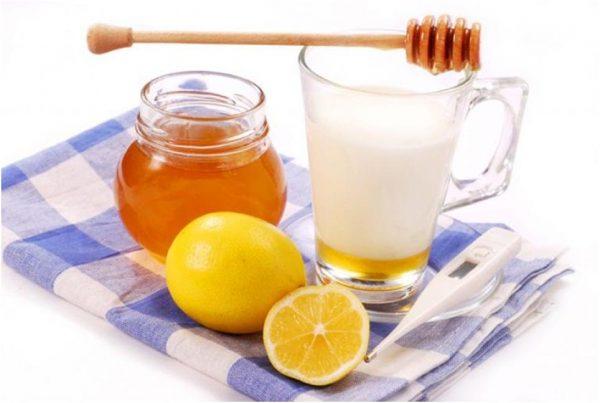 Мёд, кефир и лимон