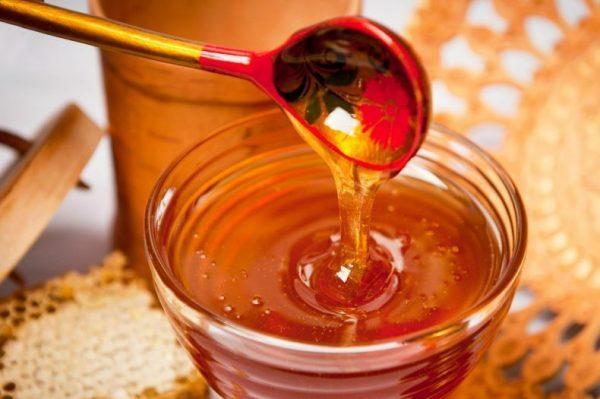 Мёд в прозрачной пиале