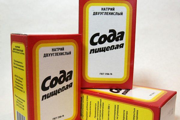 Пищевая сода в коробках