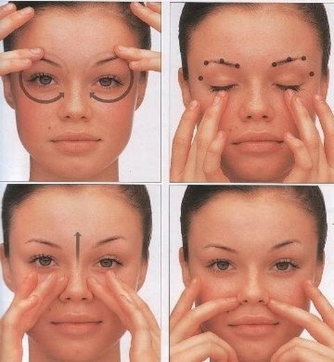 Схема массажа глаз