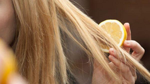 Светлые волосы и лимон