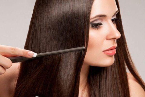гладкие волосы после масляного компресса