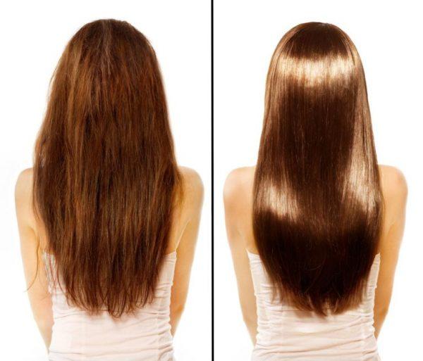фото до и после курса увлажняющих масок с маслом льняного семени