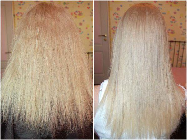 фото до и после курса обёртываний с льняным маслом