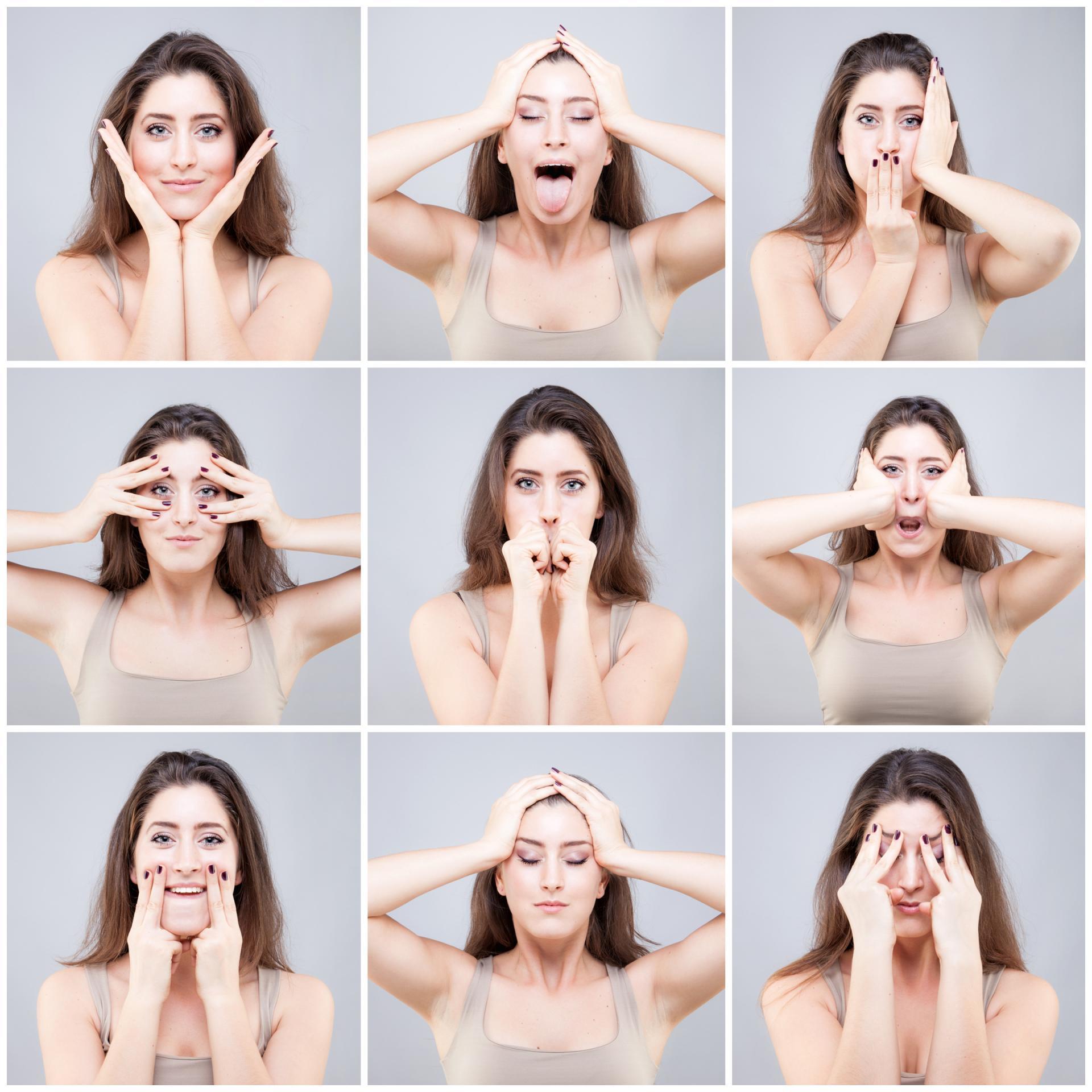 Упражнения для похудения лица щек и подбородка