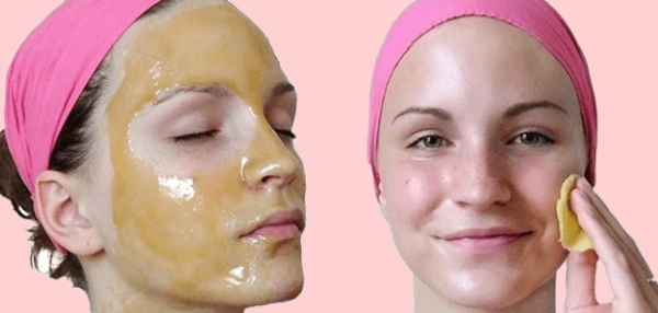 Масляная маска на лице