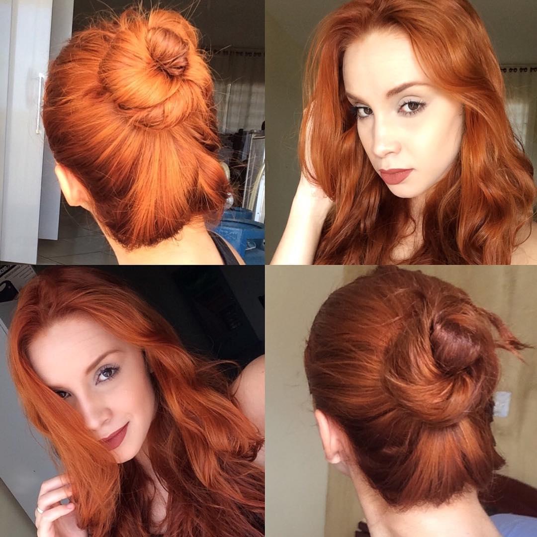 Покраска волос хной и басмой в рыжий и черный цвет (фото до и после, видео)