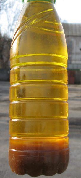 Растительное масло с осадком