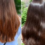 Волосы после окрашивания крем-хной Каштан