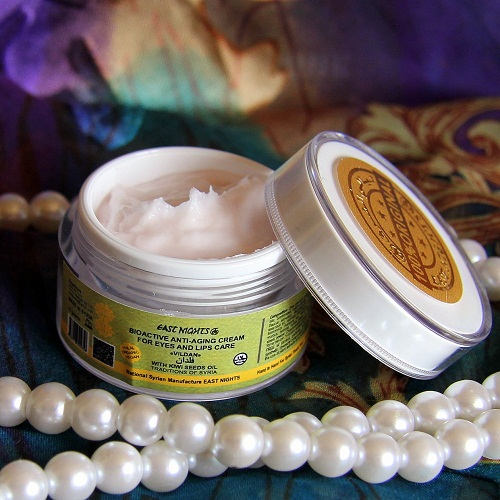 Биоактивный омолаживающий крем для кожи вокруг глаз и губ с маслом семян киви Vildan