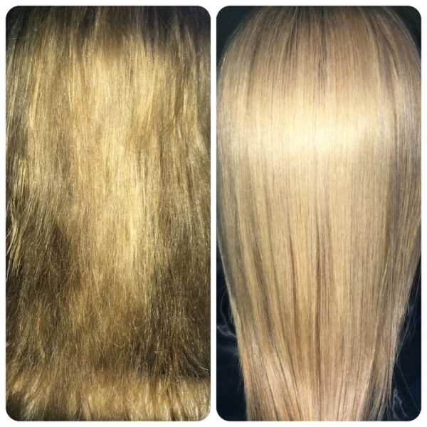 До и после лифтинга для волос
