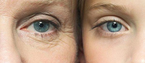 Старая и молодая кожа лица
