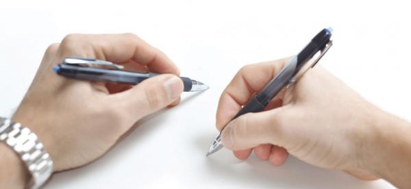 Ручка в руках