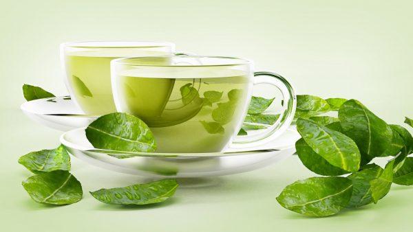Заваренный зелёный чай