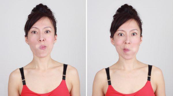 Массаж языком внутренней поверхности щёк