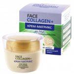 Крем-матрикс для лица для жирной и нормальной кожи FACE Collagen+ от Белита