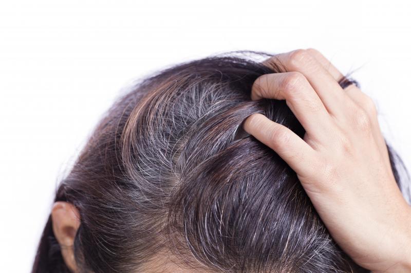 Как замаскировать седину на тёмных волосах