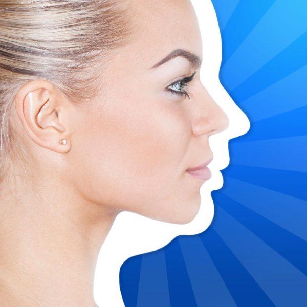 Женское лицо в профиль