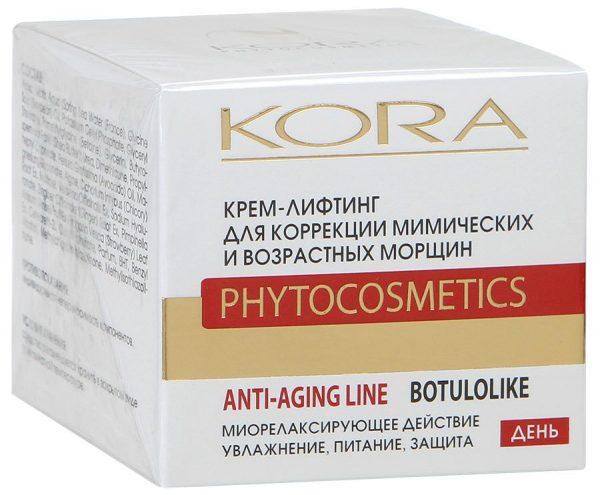 Крем-лифтинг для коррекции мимических и возрастных морщин от Kora