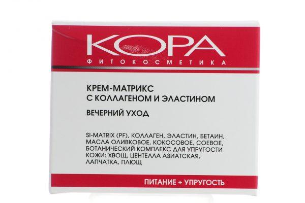 Крем для лица Кора КРЕМ-МАТРИКС с коллагеном и эластином Вечерний уход