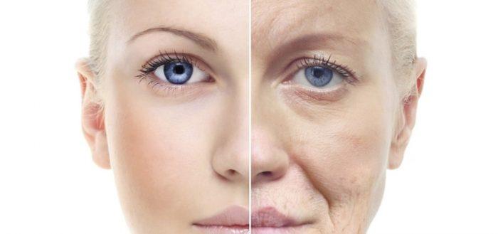 Молодое и старое лицо женщины