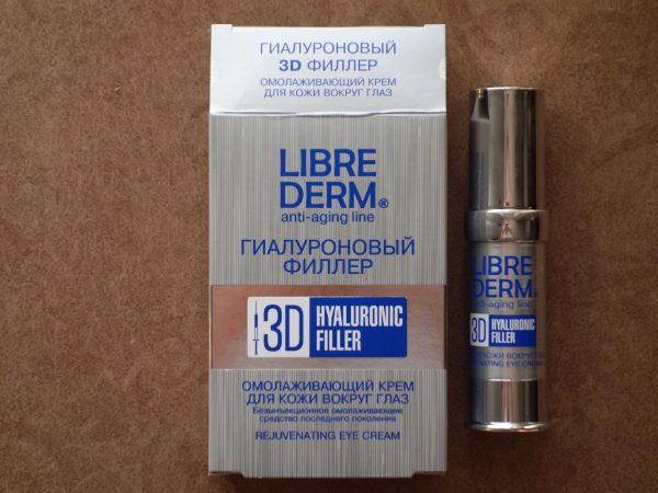 Крем для кожи вокруг глаз Librederm омолаживающий 3D Гиалуроновый филлер