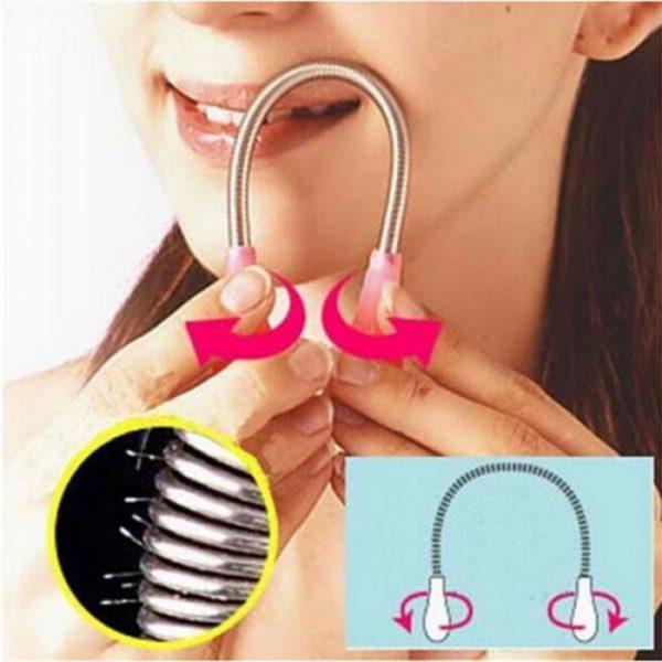 Наглядная инструкция удаления волос с помощью пружинки