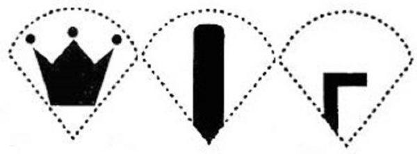 дизайн интимной стрижки в виде короны, полоски и буквы
