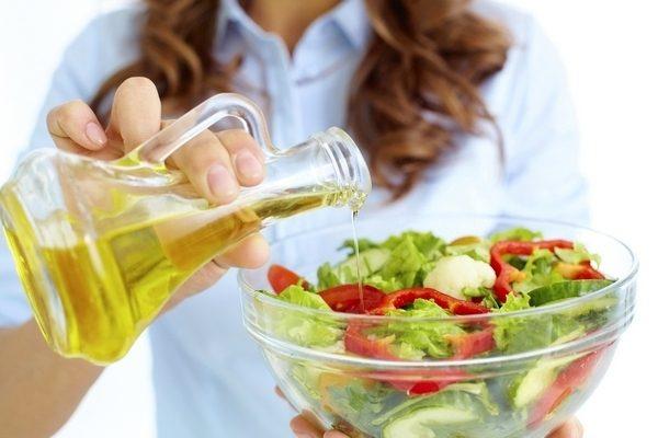 масло в салате