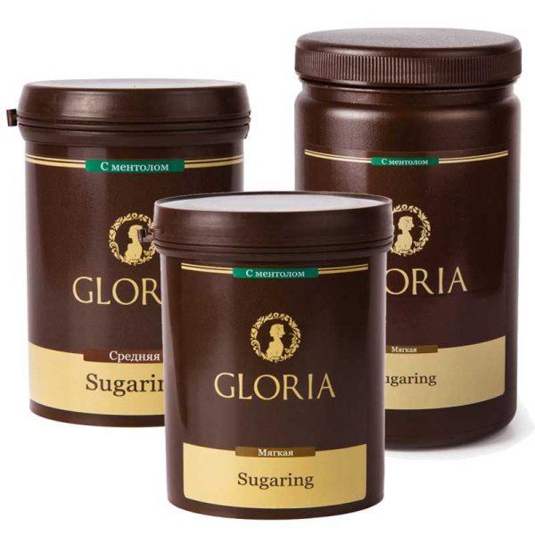 Пасты для шугаринга Gloria различной плотности