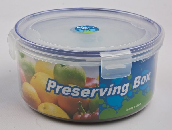 Пищевой пластиковый контейнер с крышкой