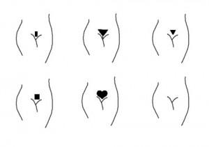 Варианты оформления волос при бразильской депиляции