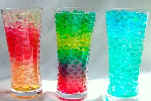 Гидрогель в вазах