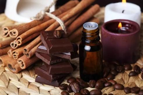 Корица, шоколад и зёрна кофе