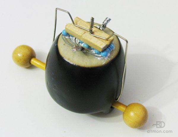 Крепление резисторов на скрепки