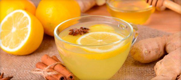 Питьё с лимоном и корицей