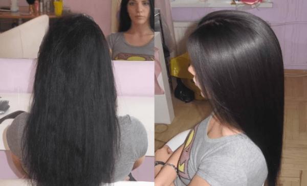 фото до и после курса питательных масок с мятным эфиром